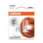 Osram W5W 12V 5W W2,1x9,5d Glassockellampe Blister 2stk.