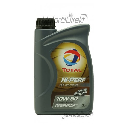 Total HI-Performance 4T Racing 10W-50 synth. Motorrad Motoröl 1l