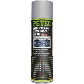 Petec Steinschlag-& Unterbodenschutz Kautschukbasis, Überlackierbar grau 500ml Spray