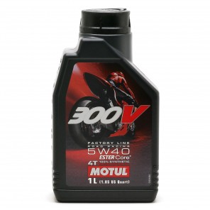 Motul 300V Factory Line Road Racing 5W40 4T Motorrad Motoröl 1l
