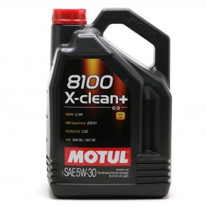 Motul 8100 X-clean + 5W-30 Motoröl 5l