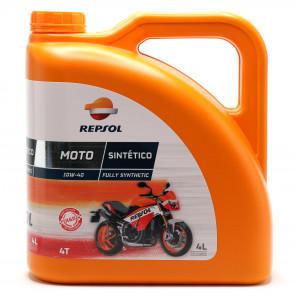Repsol Motorrad Motoröl MOTO SINTETICO 4T 10W40 4 Liter
