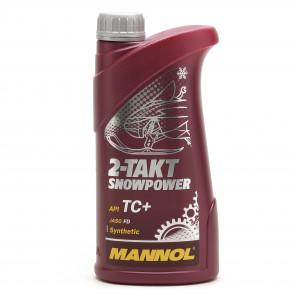 MANNOL 2-Takt Snowpower API TC+ teilsynthetisches Motorrad Motoröl 1l