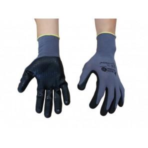 Mechaniker-Handschuhe mit Nitrilnoppen Gr.10