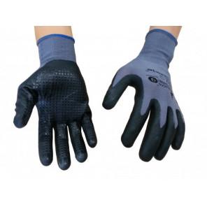 Mechaniker-Handschuhe mit Nitrilnoppen Gr.9