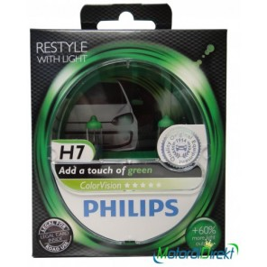 Philips H7 12V 55W PX26d ColorVision green +60% 2st.