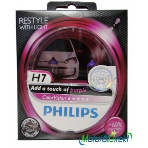 Philips H7 12V 55W PX26d ColorVision pink +60% 2st.