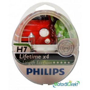 Philips H7 12V 55W PX26d LongLife EcoVision 2st.