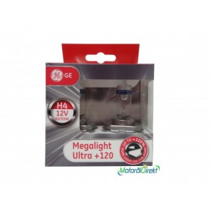 H4 12V 60/55W P43t MegaLight Ultra +120% 2st. GE (General Electrics)