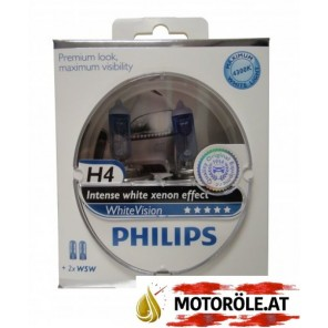 Philips H4 12V 60/55W P43t WhiteVision 2st. + 2xW5W