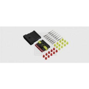 Superseal Steckverbinder-Set 6-polig, 6 x 1,5 mm², DIN 40050-9