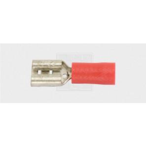 Flachsteckhülse 2,8/0,5-1,5mm², rot 7Stk.