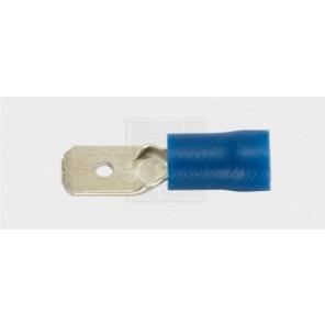Flachsteckzunge 6,3/1,5-2,5mm², blau 7Stk.