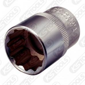 """KS Tools 1/2"""" 12-kant-Stecknuss,27mm"""