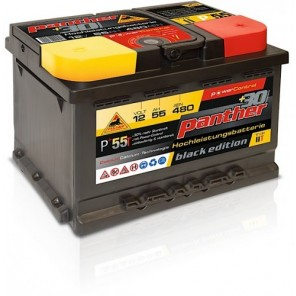 Panther Car +30% A+55 Typ IIT Autobatterie 12V 55Ah 480A