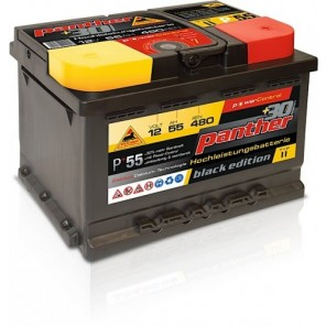 Panther Car +30% A+55 Typ II Autobatterie 12V 55Ah 480A
