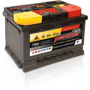 Panther Car +30% A+65 Typ IIIT Autobatterie 12V 65Ah 570A