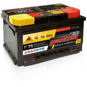 Panther Car +30% A+75 Typ IV Autobatterie 12V 75Ah 680A