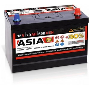 Panther ASIA 05 +30% A5 70Ah 550A Autobatterie 12V