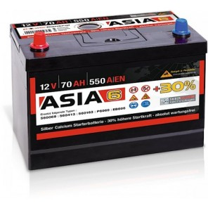 Panther ASIA 06 +30% A6 70Ah 550A Autobatterie 12V