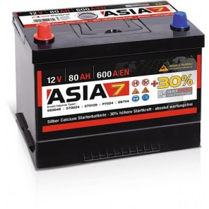 Panther ASIA 07 +30% A7 80Ah 600A Autobatterie 12V