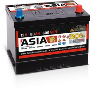 Panther ASIA 08 +30% A8 80Ah 600A Autobatterie 12V