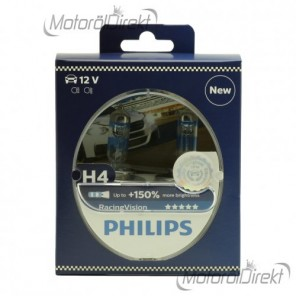 Philips H4 12V 60/55W P43t Racing Vision +150% 2st.
