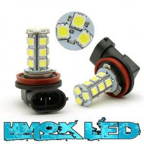 LED Nebelscheinwerfer Birne Lampe H8 18x 5050 SMD Xenon Weiß