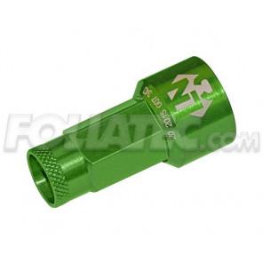 Foliatec LugNuzz Cover Set, grün eloxiert, Schlüsselweite 19 20 Stück