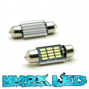 LED Soffitte C5W 41mm 12x 4014 SMD Weiß