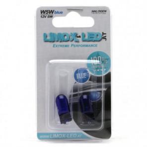 Limox W5W Super White 12V 5W W2,1x9,5d Glassockellampe Blister 2stk.