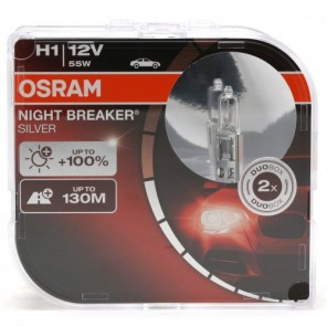 Osram H1 NIGHT BREAKER® SILVER 12V 55W P14,5s Duobox