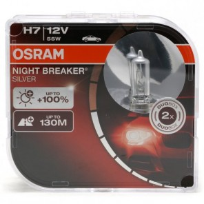 Osram H7 NIGHT BREAKER® SILVER 12V 55W PX26d Duobox