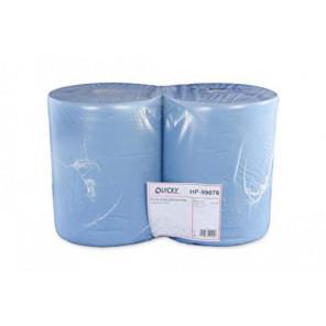 Putzpapier-Rollen, 36cm, 2-lg., blau 1000 Blatt, verklebt, Recyclingpapier 2 Rollen