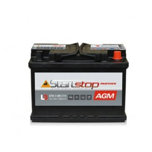 Panther Start-Stop Plus AGM Autobatterie 12V 70Ah 760A