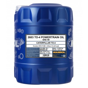 MANNOL TO-4 Powertrain Oil SAE 50 20l Kanister