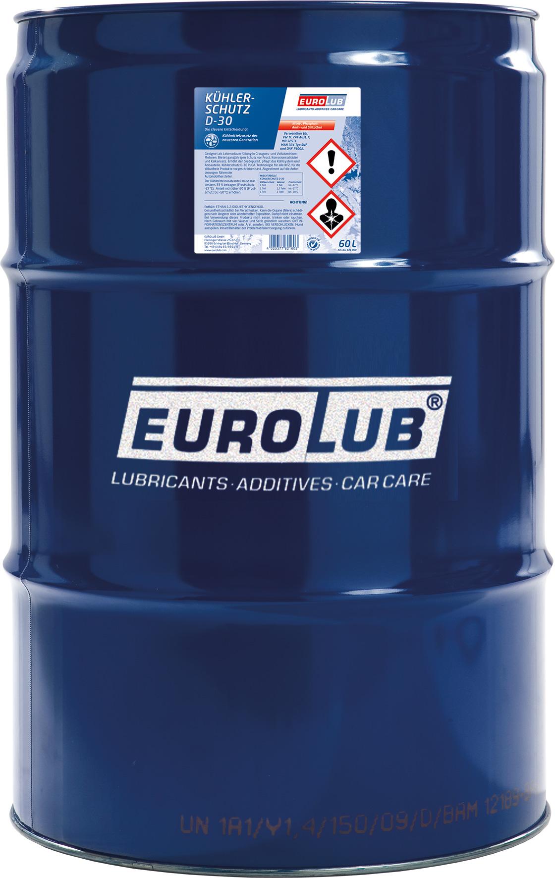 Eurolub Kühlerfrostschutz D 30 Konzentrat 60l Fass Kühlerschutz Rosa Lila Violett Kühlerschutz Pflege Wartung Motoroeldirekt At